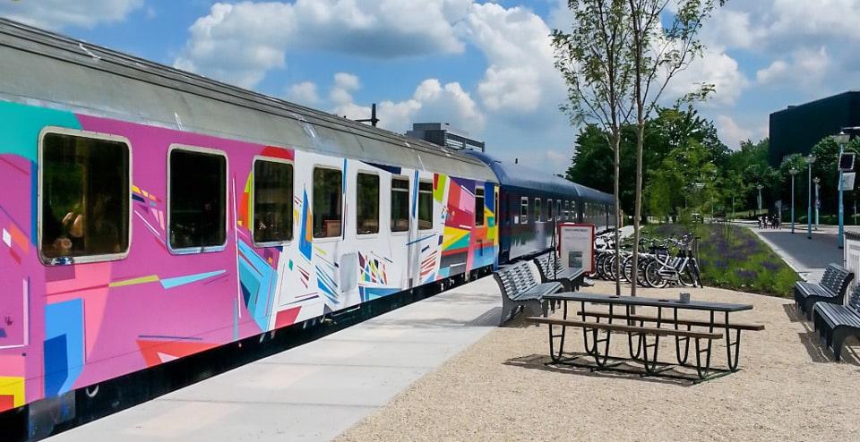 Train Lodge Amsterdam хостел в вагоне поезда