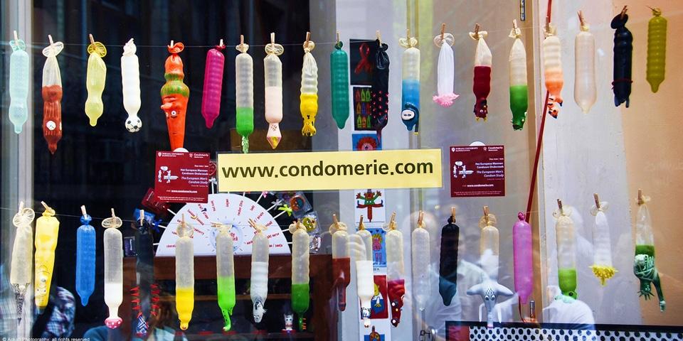 Витрина магазина Condomire