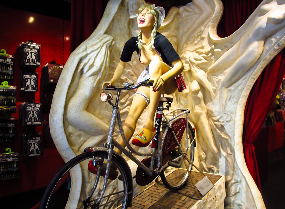 entrance to the Erotic Museum in Amsterdam
