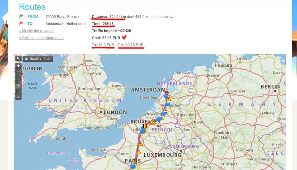 Paris-Amsterdam-stoimost-platnoj-dorogi