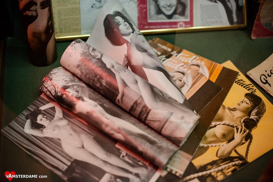 Эротические журналы в музее секса в Амстердаме