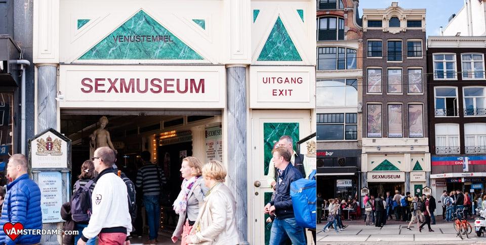 Вход в музей секса в Амстердаме