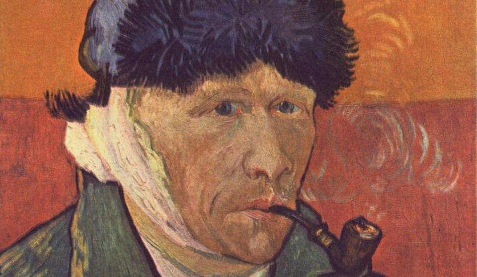 Автопортрет с отрезанным ухом и трубкой