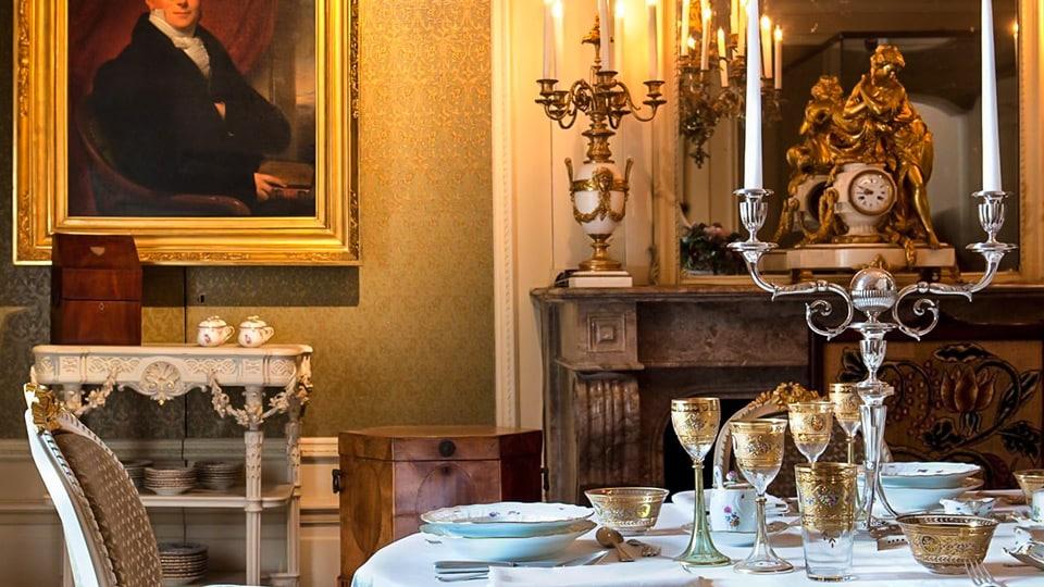 кухня и столовые  приборы в особняке Виллет-Холтхаузен