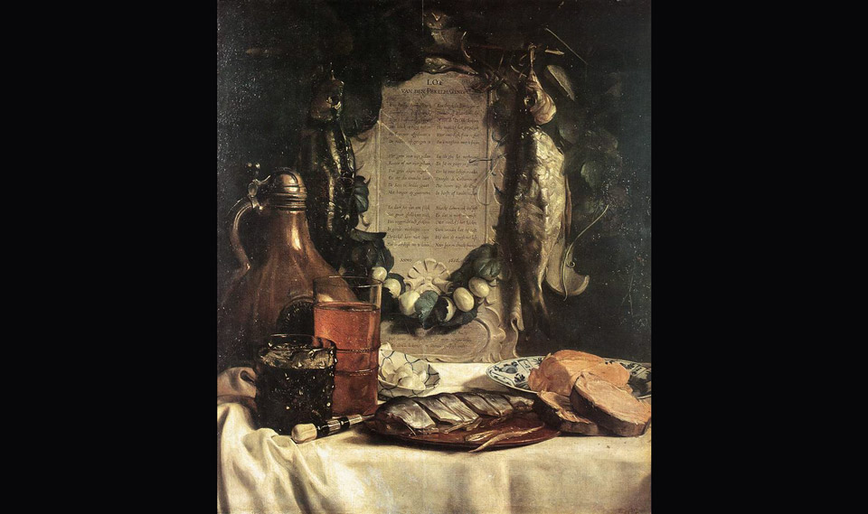 Painting Praise to the Herring by Joseph de Braia