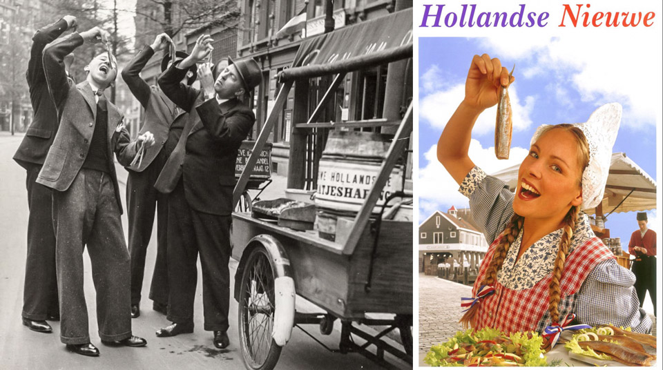 How to eat herring in the traditional way in Amsterdam