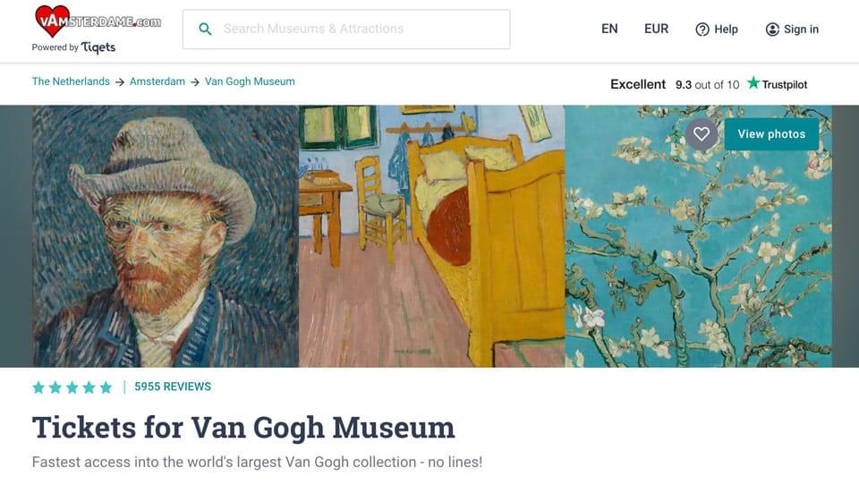 Entradas para el Museo Van Gogh en Ámsterdam
